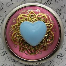 Compact Mirror My Blue Heart Bridesmaid Gift